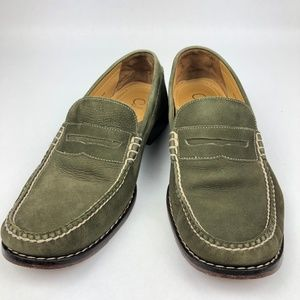 COLE HAAN  Mens Loafers NIKE  green Leather 10.5